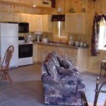 mainland cabin kitchen view